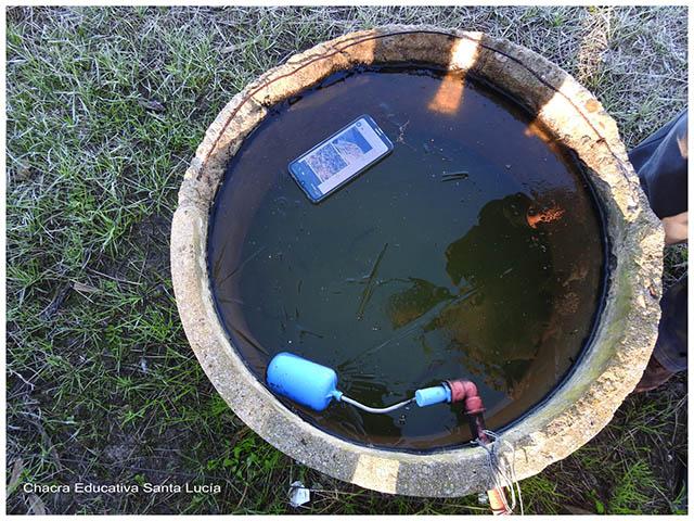 Tanque de agua congelada -Chacra Educativa Santa Lucía