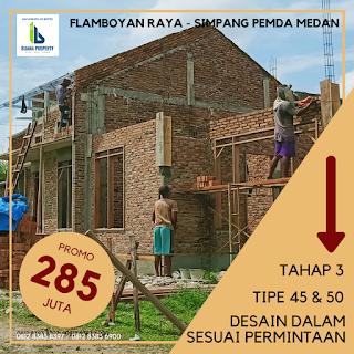 Rumah Cluster Baru TERMURAH Dekat Pajak Melati Flamboyan Raya Simpang Pemda Medan | Promo 285 Juta