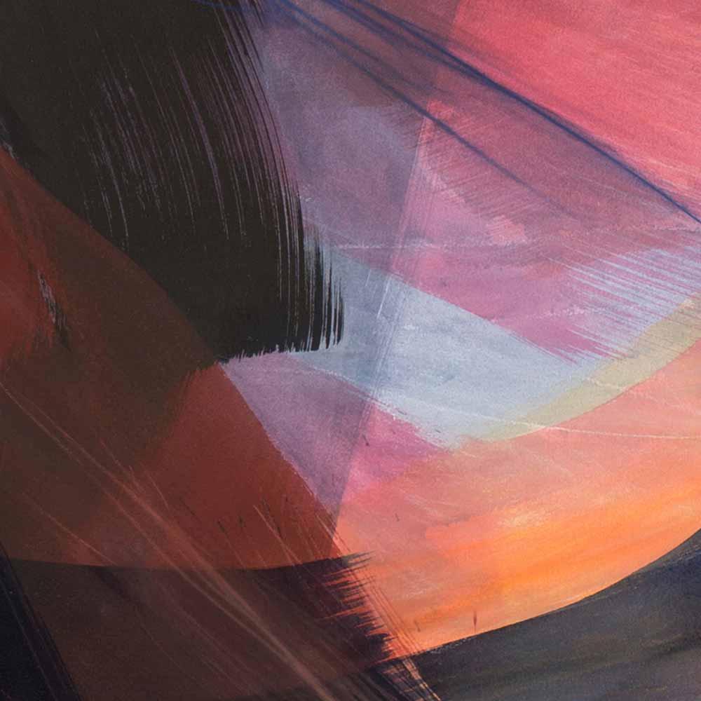 Aquarelle détail 9, 110 x 144 cm, mai 19 © Annik Reymond