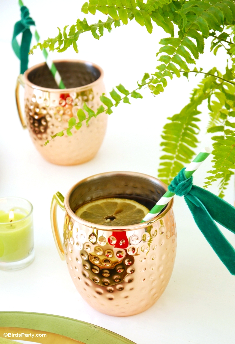 Green & Metallic DIY Tablescape Ideas - BirdsParty.com
