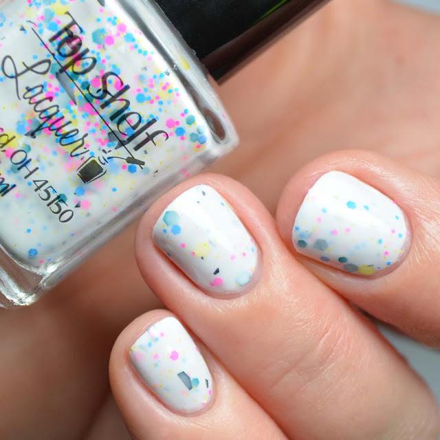 white crelly nail polish