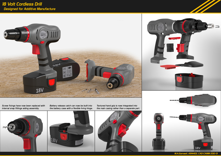 18 Volt Hand Held Drill Construction Machine Design Download Free 3d Cad Models