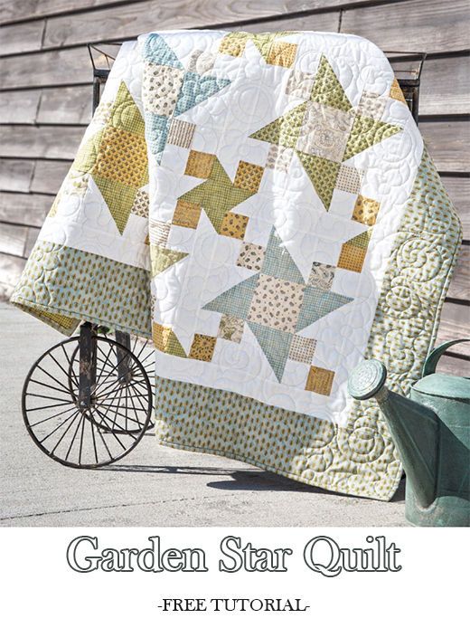 Garden Star Quilt Free Tutorial designed by Jenny of Missouri Quilt Co
