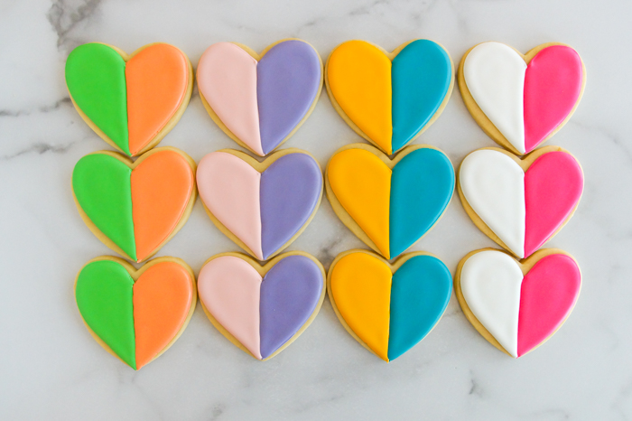 House of Colour decorated cookies - seasonal color palette cookies