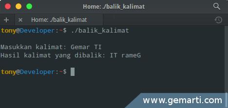 Program Membalik Kalimat Menggunakan Pointer dengan Bahasa C