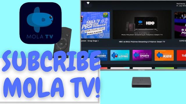 cara berlangganan Mola TV di HP android