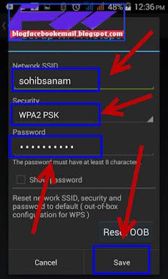 cara memberi dan mengganti password pada hotspot android