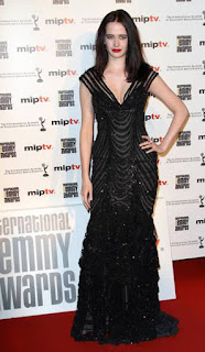 Eva Green In Long Black Dress On An Event