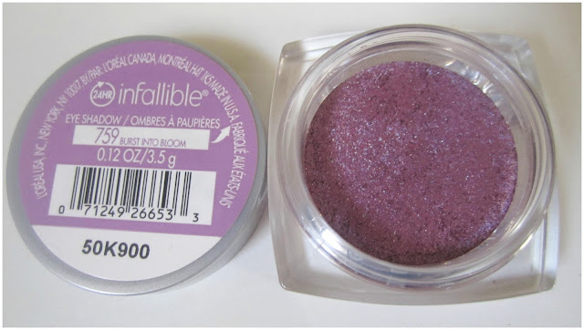 L'Oreal Infallible 24-Hr Eyeshadow in 'Burst Into Bloom'