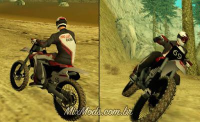 gta sa style motox skin cr 125 bike biker