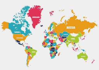 Nama-Nama Benua di Dunia Dan Batas Wilayahnya