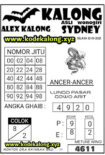 syair sydney kalong