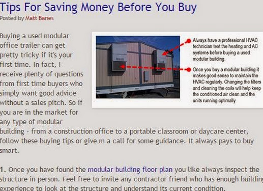 Today's Modular Building Tips From Matt Banes