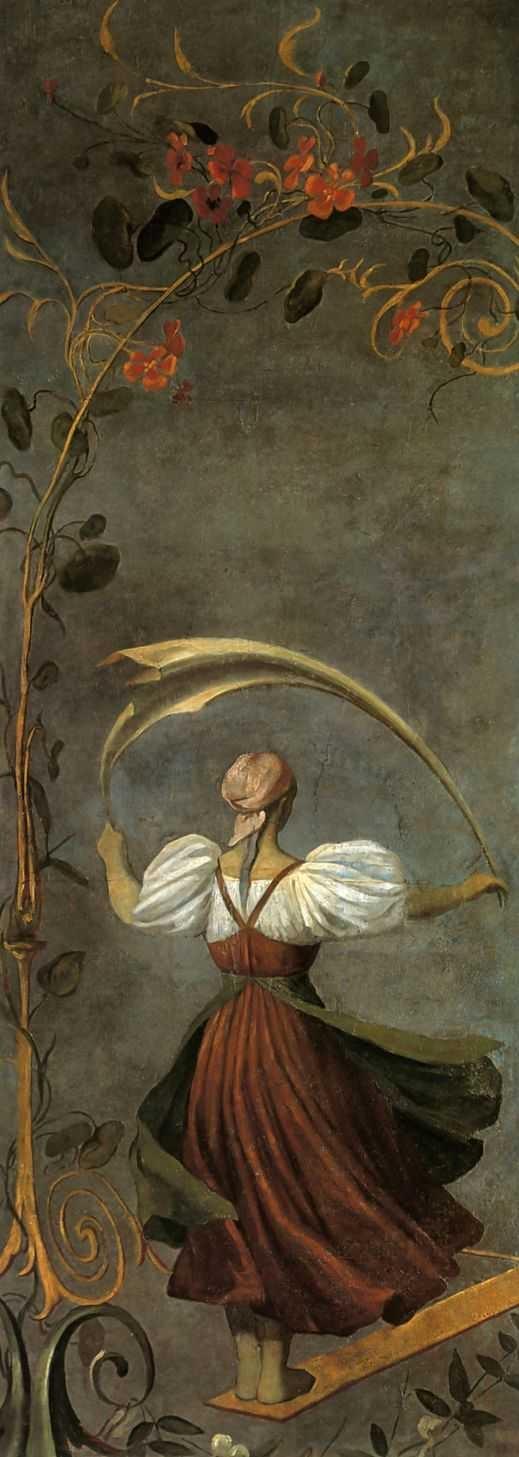 Венецианов Алексей Гаврилович (1780-1847) Девушка на качелях www.womanpaint.blogspot.ru