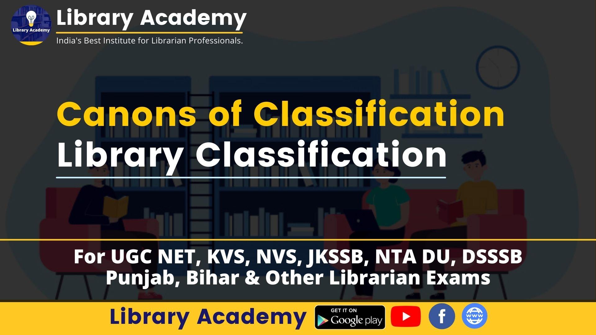 Canon of Classification