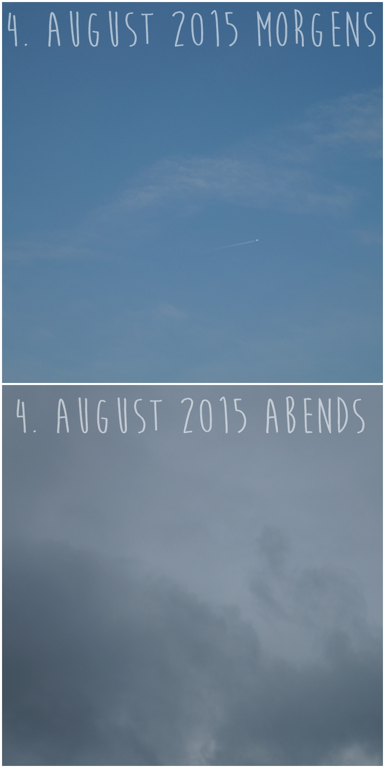 Blog & Fotografie by it's me! - Morgenhimmel und Abendhimmel am 4. August 2015