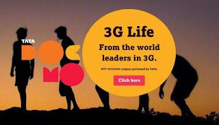 Tata docomo free internet 3G March 2016
