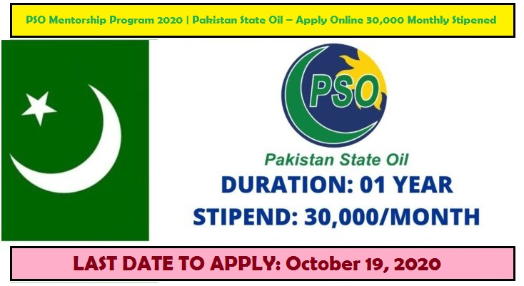 PSO Mentorship Program 2020 | Pakistan State Oil – Apply Online 30,000 Monthly Stipend