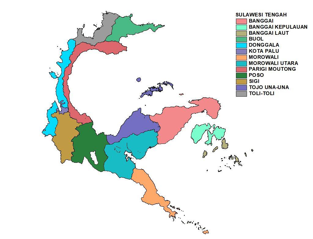 Thoughts Adepedia Peta Administrasi Sulawesi Tengah 2018 Gambar Tenga