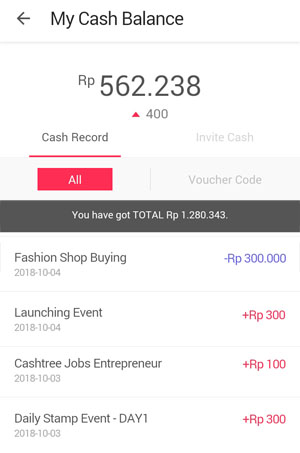 cash balance cashtree