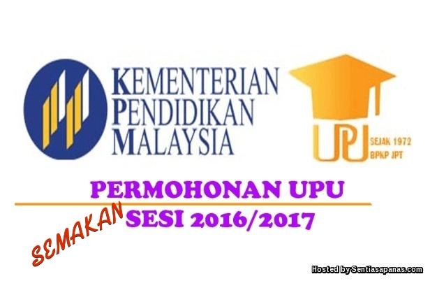 Semakan Keputusan UPU Ke IPTA 2016 2017