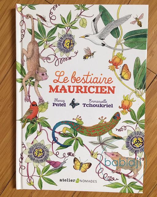 couverture d'un livre pour enfant le bestiaire mauricien sur les animaux de l'Île Maurice