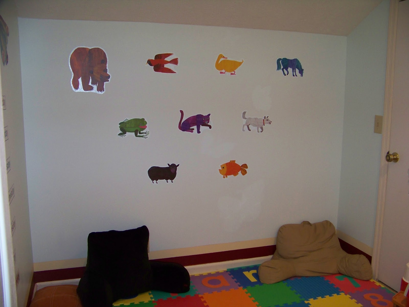 Very Hungry Caterpillar Wall Stickers The Three Bears Get Crafty Eric Carle Art Playroom