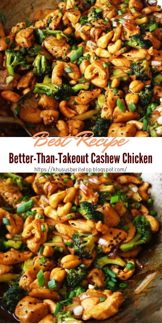 Better-Than-Takeout Cashew Chicken #dinnerrecipe #food #amazingrecipe