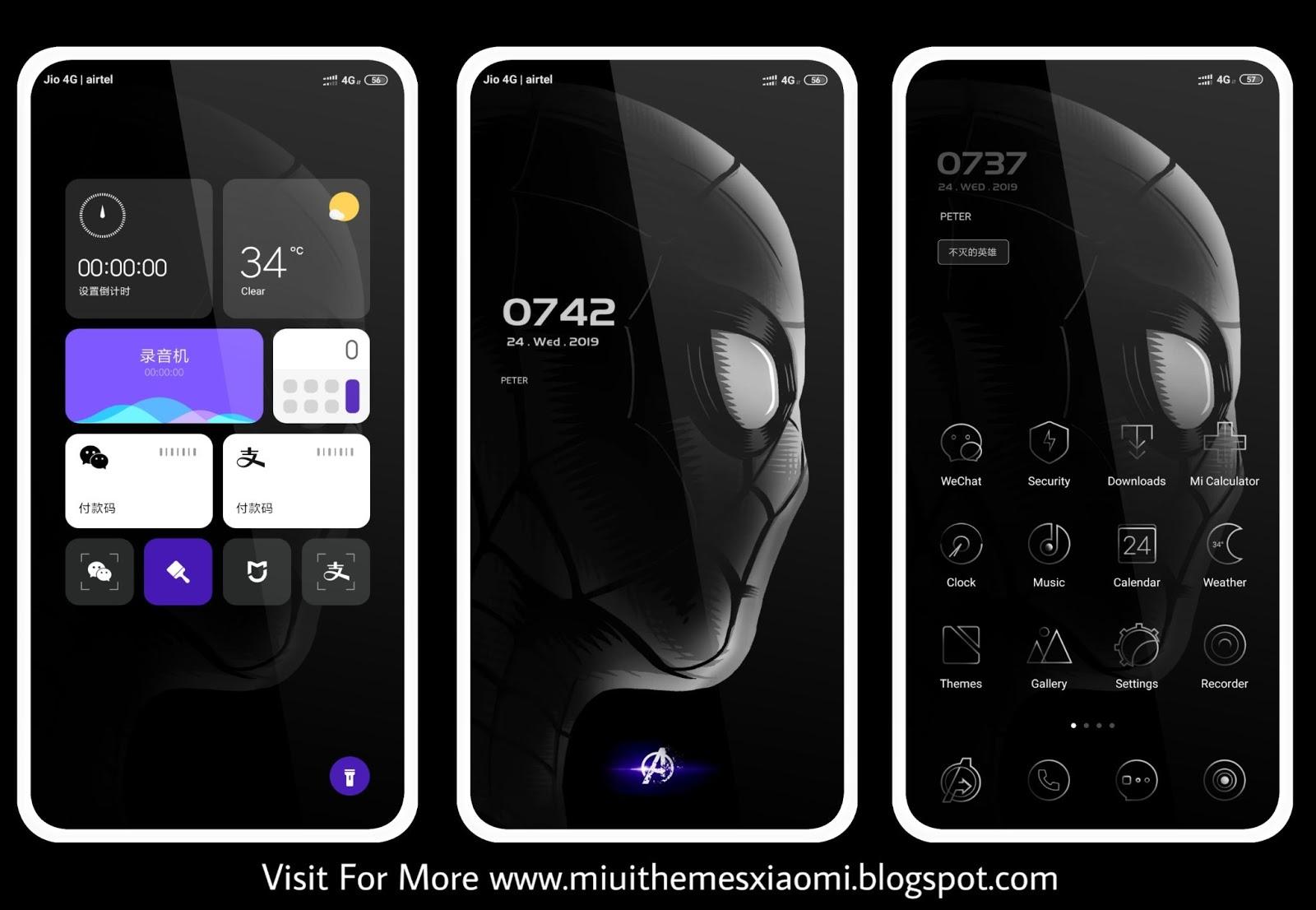 Avengers: Endgame Edition MIUI Theme Download For Xiaomi