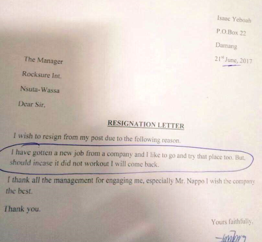 See the hilarious resignation letter an employee handed over to his ...