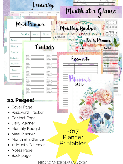shocks and shoes 10 awesome free planners for 2017
