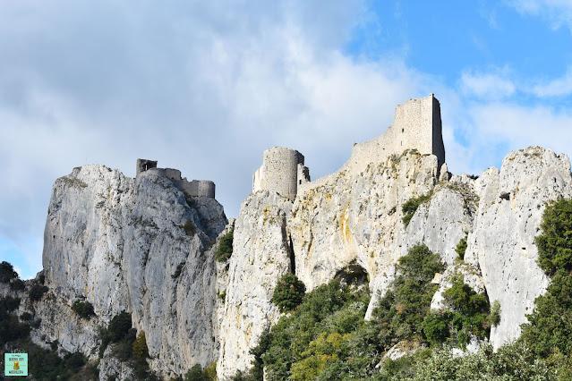Castillo de Peyrepertuse, ruta de los Cátaros de Francia