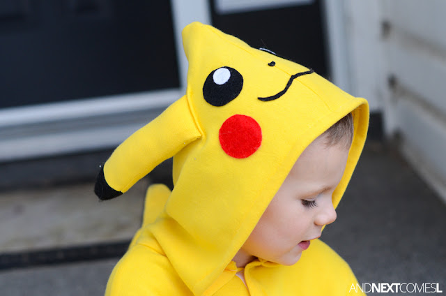 Adorable Pikachu costume for kids from And Next Comes L