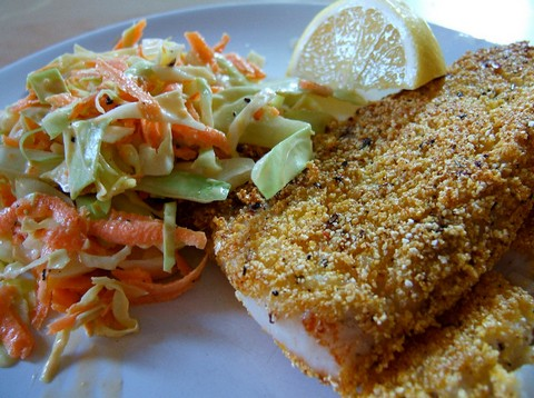 Cornmeal Crusted Fish Fillets with Cayenne Pepper and Thyme