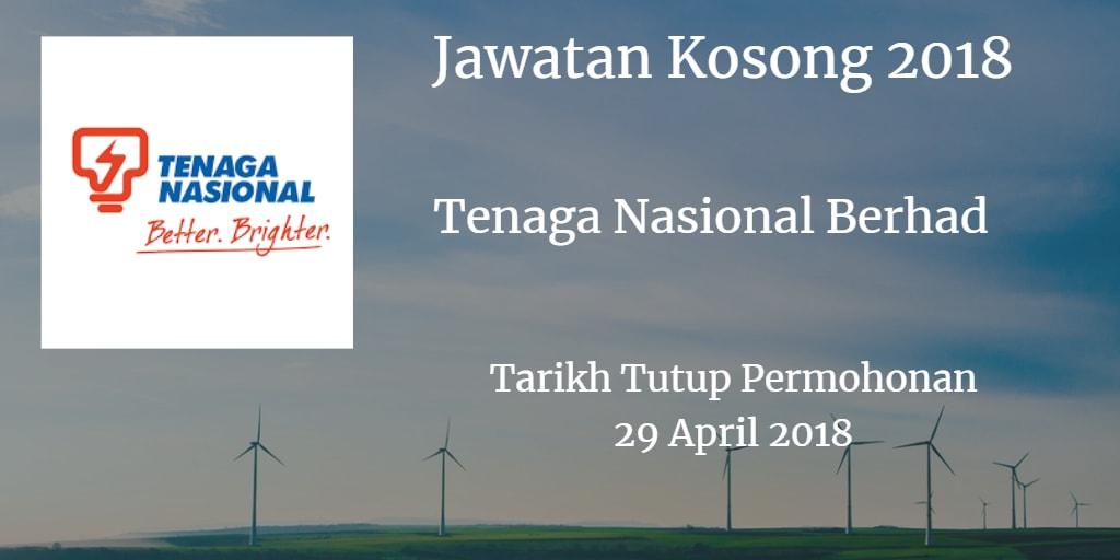 Jawatan Kosong TNB 29 April 2018