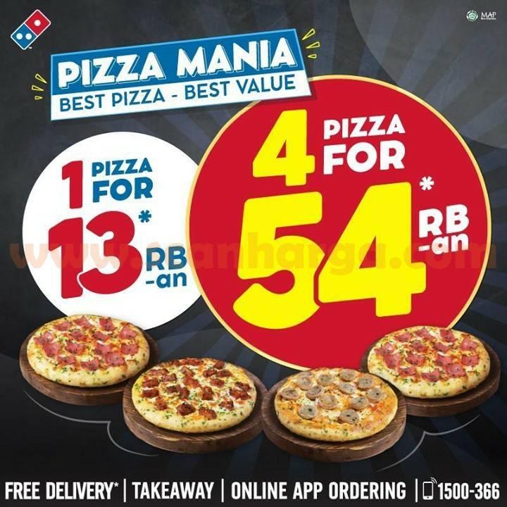 DOMINO'S PIZZA Promo 1 PIZZA MANIA cuma Rp. 13 Ribuan