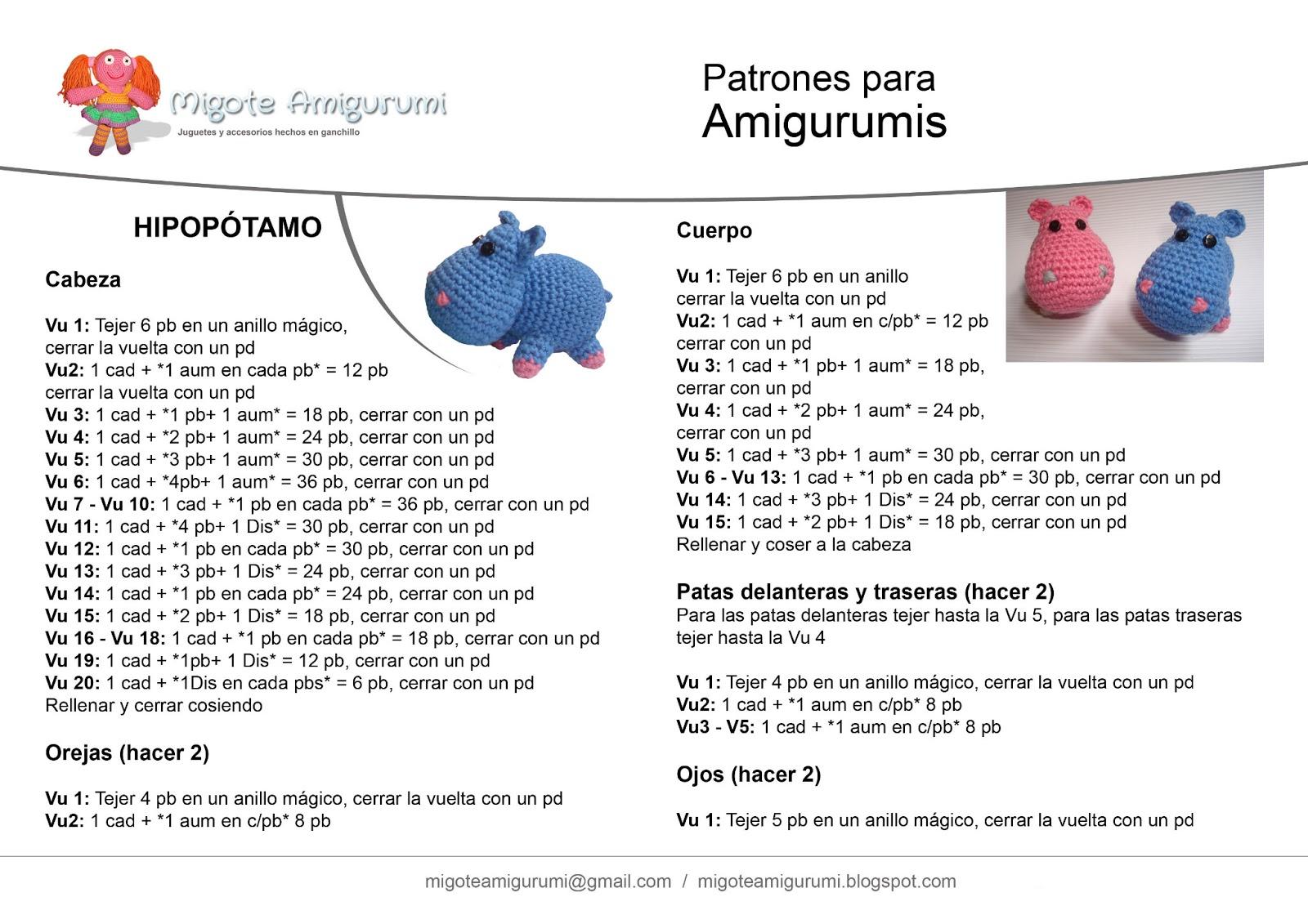 Mini Amigurumis paso a paso, Patrones en español