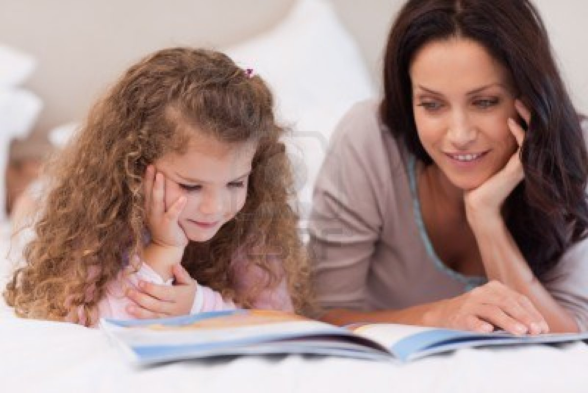 nanny, children, reading, bonding