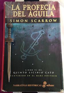 Portada del libro La profecía del águila, de Simon Scarrow