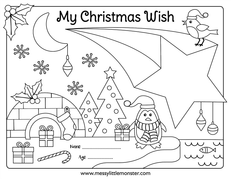 free printable Christmas activity page for kids