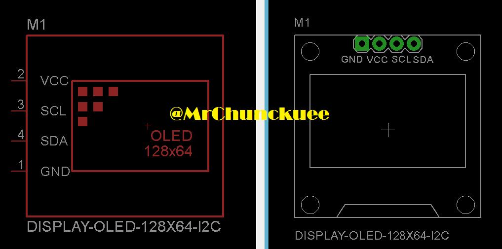 Librerías para Eagle: Pantalla OLED con el driver SSD1306
