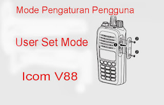 Cara Setting Radio HT ICOM V88 Bag.2