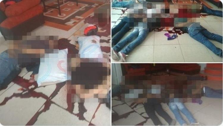 """Fotos, Torturados, maniatados y con el tiro de gracia así dejaron sicarios a cinco sujetos dentro de """"Fundación God Bless You"""",en Morelia"""