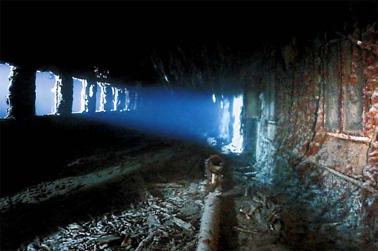 Corridor inside the wreck of the Titanic : submechanophobia  Corridor inside...