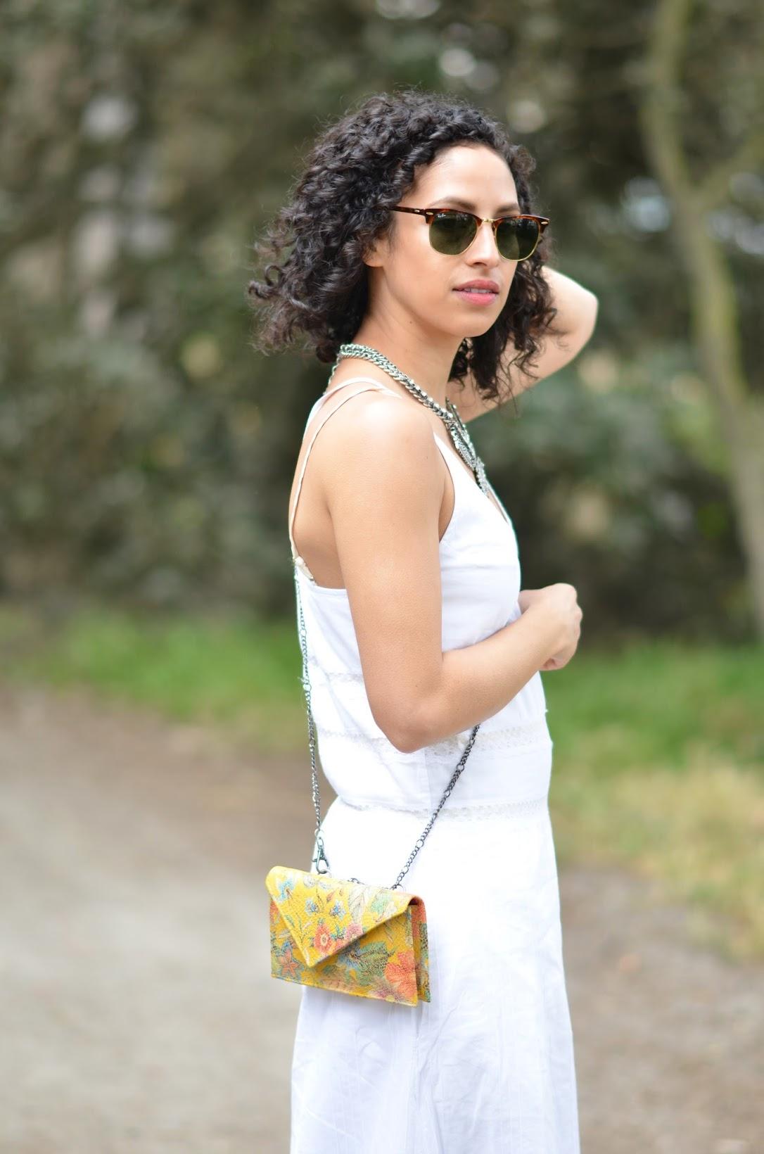 summer white maxi, Candala maxi dress, Candela, summer style, short curly hair, Summer in San Francisco, BaubleBar,