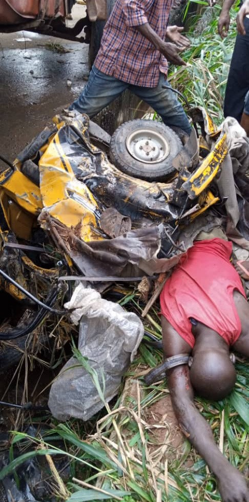 Tricycle driver crushes by water tanker  in Anambra