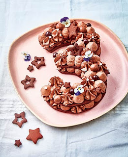Number cake au chocolat