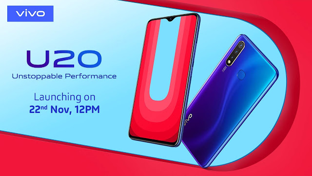 Vivo U20 with triple rear cameras to launch in India on November 22