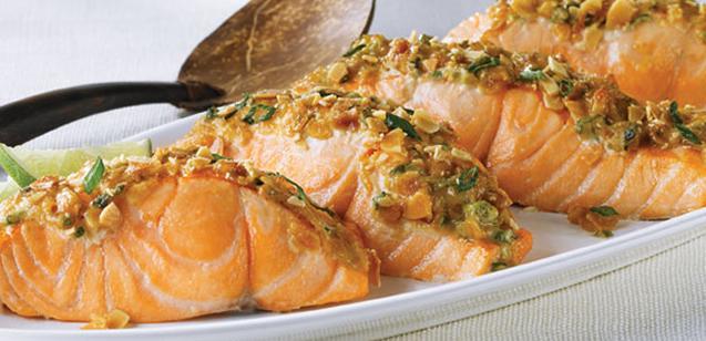 saumon au four avec soya et gingembre. Black Bedroom Furniture Sets. Home Design Ideas