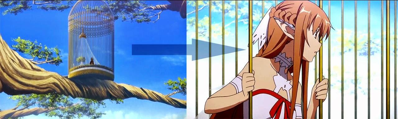 Asuna terkurung di sangkar burung - Sword Art Online